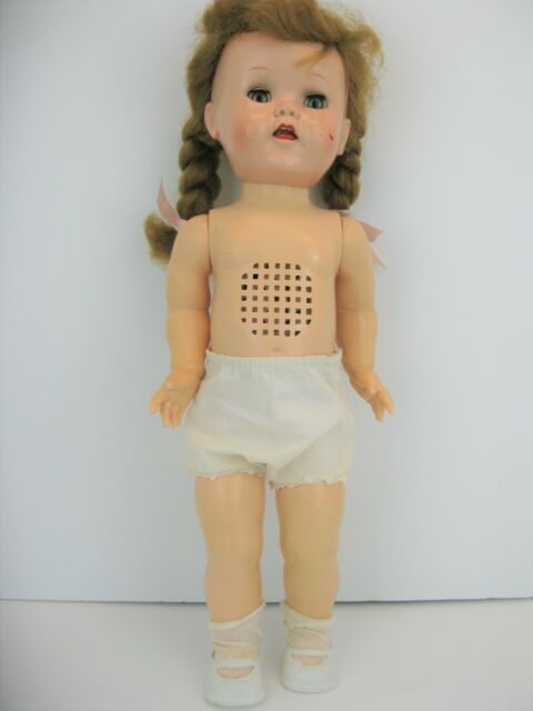 Vintage 1950's Ideal Saucy Walker Hard Plastic Crier Doll 16