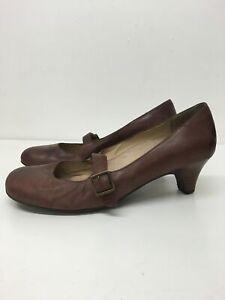 Detalles de Para Mujer Clarks Hebilla De Cuero Marrón Correa Talón Mediados Zapatos Trabajo Inteligente UK 5 EU 38 ver título original