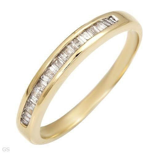 10k solid gold huge 0.35 ctw Genuine mined Diamond ring