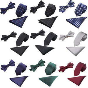Men-s-Tuxedo-Jacquard-Woven-Necktie-Bow-Tie-Handkerchief-Party-Pocket-Square-Set