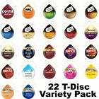 22 TASSIMO T Discs Pods Variety Pack 617215915694
