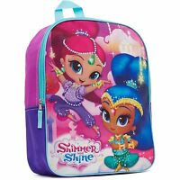 Shimmer And Shine Backpack Lightweight Full Size 16 Inch Book Bag