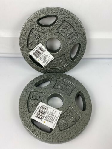 2.5 LB Grip Plates Workout Quarantine At Home New Barbell Weights Lot X2