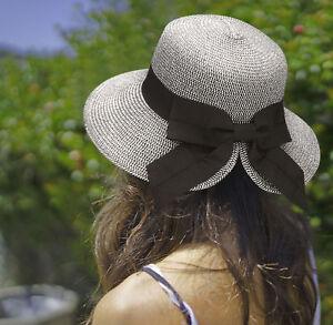 91577701734d7 Women s Packable Summer Wide Brim Beach Travel Straw Sun Hat Caps