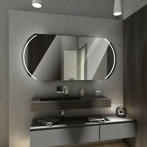 KAIR ECOLOGICAL Badspiegel mit LED Beleuchtung Badezimmerspiegel ...