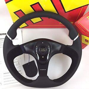 Interni auto Auto: tuning ed elaborazione MOMO ST 350mm nero pelle/alcantara Volante-stesso giorno spedizione