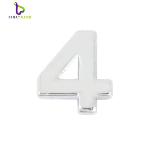 "8MM Plain Slide numbers /""0-9/"" 10 pcs//lot Slide Charms Fit DIY Wristband Bracelet"