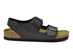 Caricamento dell immagine in corso BIRKENSTOCK-MILANO-sandali-nero-scarpe -uomo-mod-034793 fd79967c559
