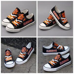 96dc292c348c Image is loading CLEMSON-TIGERS-NCAA-Women-Men-Shoes-Sneakers-Football-