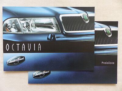 Angemessen Skoda Octavia L&k Laurin & Klement Mj 2000 - Prospekt + Preisliste 06.1999 SchöN In Farbe