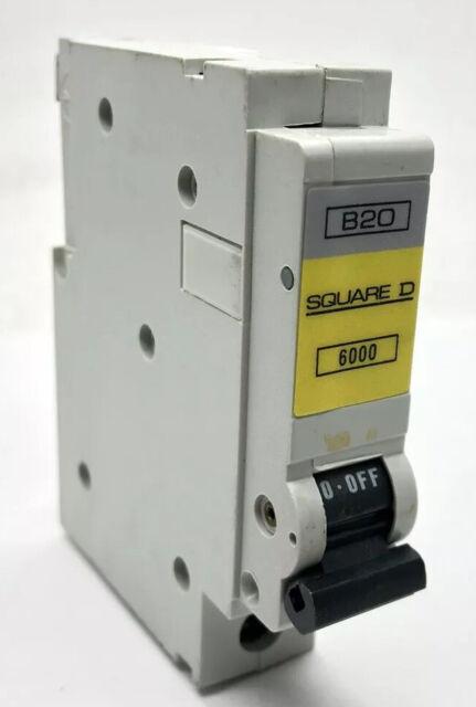 SQUARE D 6 AMP TYPE B 6kA MCB CIRCUIT BREAKER QOE 6000 B6 6A Single