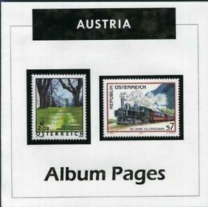 Austria-CD-Rom-Stamp-Album-1850-2016-Color-Illustrated-Album-Pages