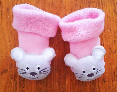Neu Baby Schuhe Socken Gr 15 Rosa Mit Klappernden Katzenkopf Ausreichende Versorgung 13