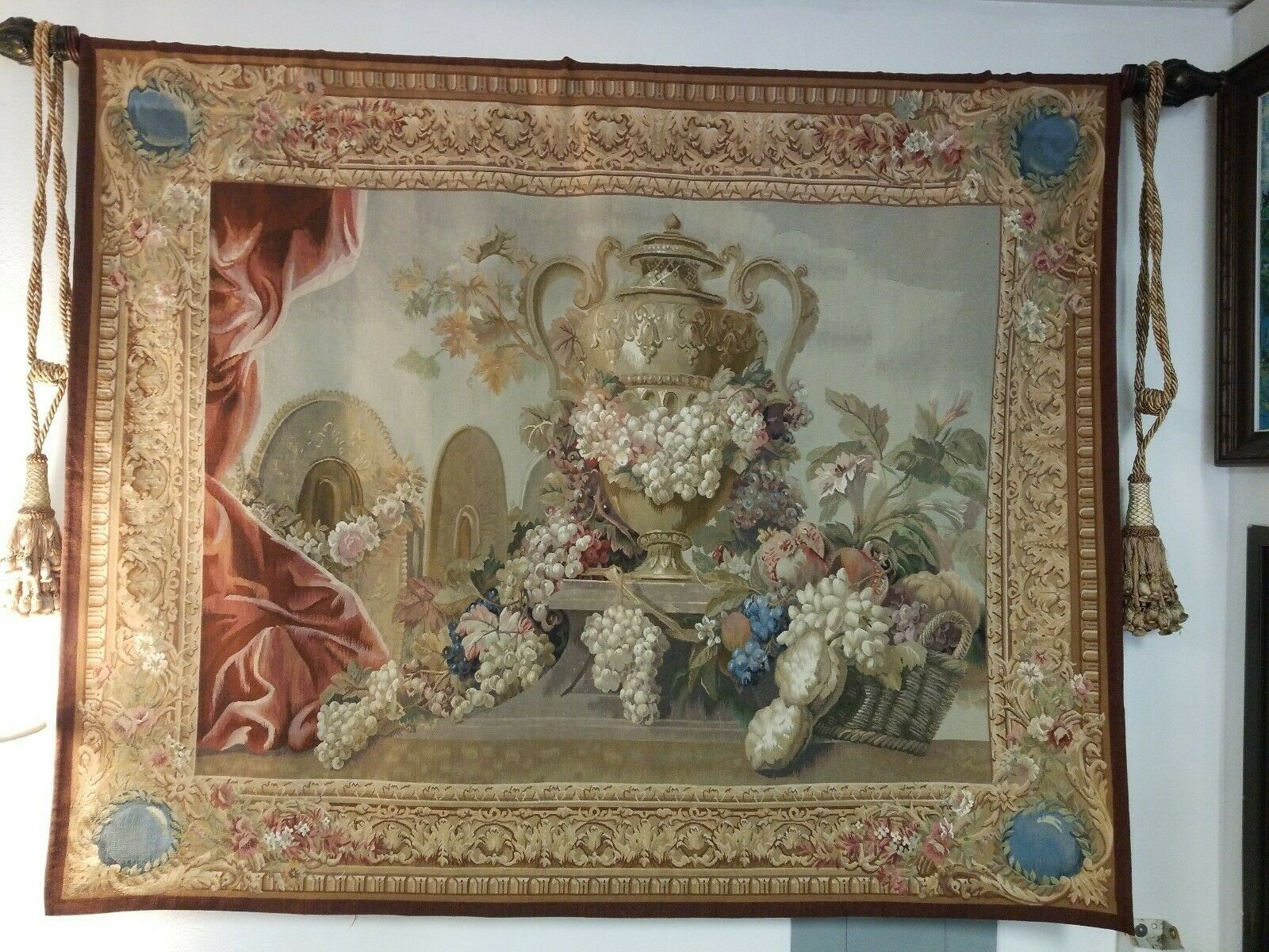 VINTAGE TAPESTRIES, LTD HIGH POINT, N. C. WALL HANGING 74  W x 59  H TAPESTRIES