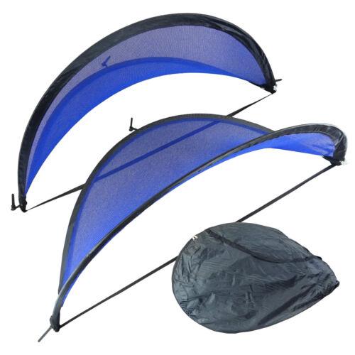 Two SET OF 2 Portable 5 ft Blue Net BlueDot PORTABLE SOCCER POP UP GOAL NET