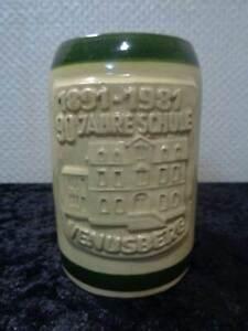 1891-1981-DDR-Ceramica-Jarra-de-Cerveza-90-Anos-Escuela-Venusberg-Vintage