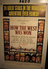 How the West Was Won Original 1sh Movie Poster '64 Debbie Reynolds, Gregory Peck