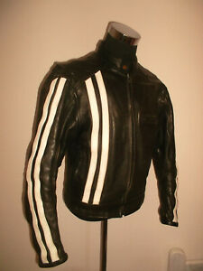 Vintage La Tienda Custom Malaga Motorradjacke Oldschool Motorcycle Jacket S (m) Reich Und PräChtig