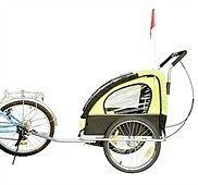 Kombineret cykelanhænger/jogger - Grøn