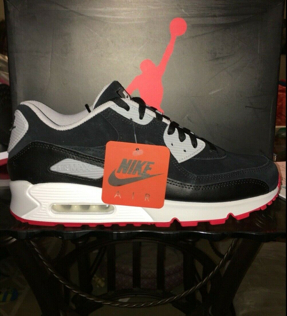 Air Max 90 X Jordan 4 Bred Sz 7-13 Vaulted Nike iD 2019 Air Max Day In Hand
