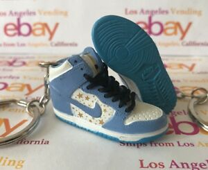 timeless design 192da a9b9e Image is loading Dunk-SB-High-Blue-Supreme-Keychain-WITH-LACES-