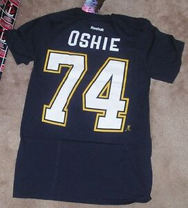 san francisco bca07 dbf08 Details about NEW NHL TJ Oshie St Louis Blues Jersey Style T Shirt Men S  Small Reebok NEW NWT