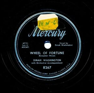 DINAH-WASHINGTON-on-1952-Mercury-8267-Wheel-of-Fortune-Tell-Me-Why
