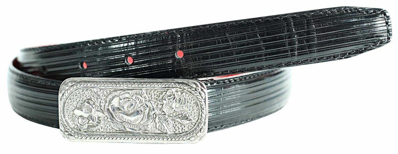 ! nuevo!! Moda Vogue ROSE hebilla de plata cuero superior plisada cinturones Cosido 25MM