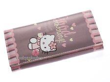 B035 HelloKitty Brown Girl Lady Long Bifold Wallet Coin Bag Card Holder Purse