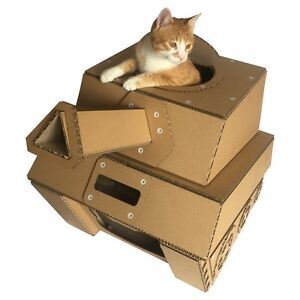 tank cardboard cat house ebay