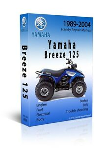 yamaha breeze grizzly 125 service repair manual cd only 1993 rh ebay com Yamaha Breeze Shop Manual Yamaha Breeze Repair Manual