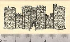 Bodiam Castle Rubber Stamp, Historical Moated English 14th Century  M2407 WM