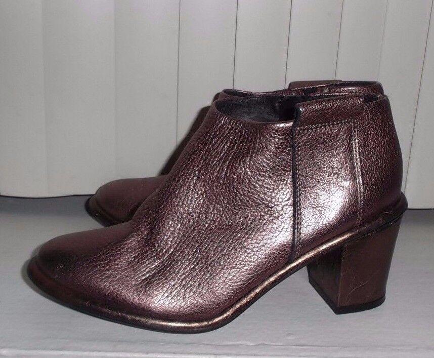 Miista Dusty Rosa Metallic Anais Stiefelie Ankle Stiefel Größe EU36 US 6 NWOB S O
