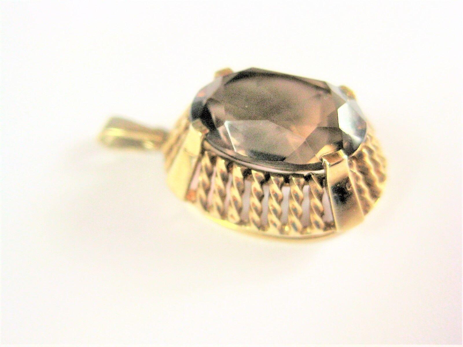 Ciondolo Ciondolo Ciondolo oro 585 con Topazio Fumè 4 49 G d9c2c6