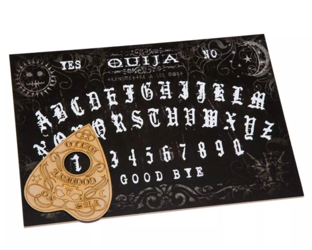Wooden Black Ouija Spirit Board Game With Planchette and Detailed  Instruction