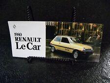 1980 Renault Le Car Car Dealer Brochure Literature Advertising