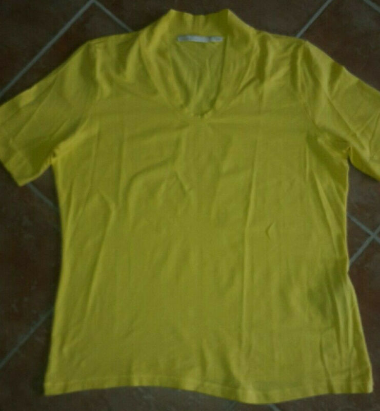"""passport"" Damen T-shirt Gelb Gr. 44 Stretchig Kurzarm"