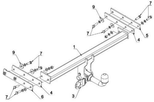 AutoHak Anhängerkupplung für Volvo XC70 07-16 abnehmbar mit 13pol spezifisch NEU