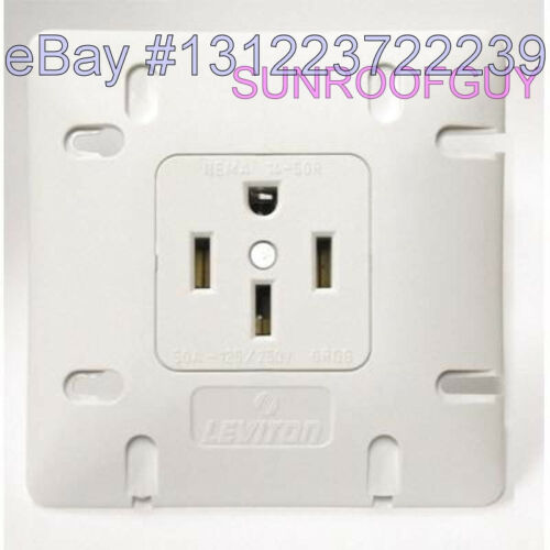742-1279-W50 Leviton Range Outlet//Receptacle 50A-125//250V 14-50R NEW