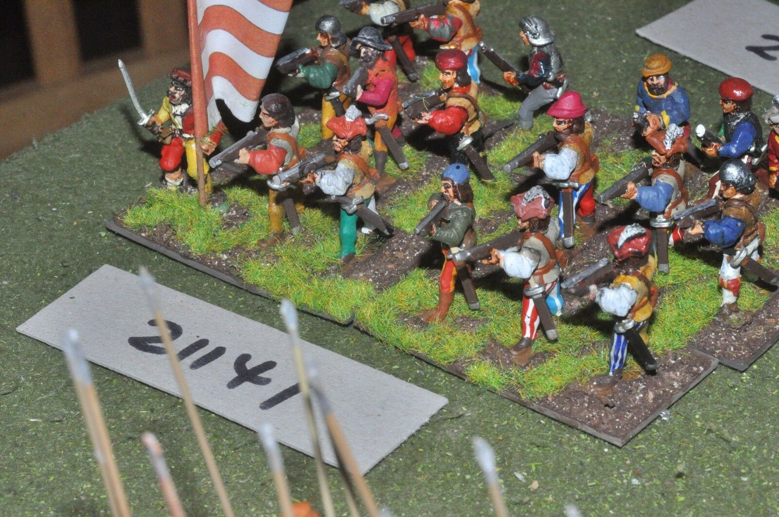 25mm renaissance   generic - infantry 18 figures - inf (21141)