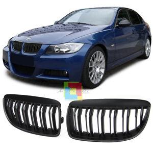 Griglia anteriore senza logo BMW serie E90 E91 2005-2008 cromo e nero