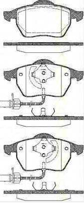 8EC, B7 2.0 TDI 16V 140 CH Kit Plaquette Frein AV TRISCAN AUDI A4