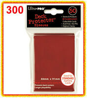 Ultra Pro 300 Red Deck Protector Standard Size Card Sleeves 6 Packs Gaming