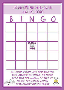 image is loading 24 bridal shower bingo cards purple gift design