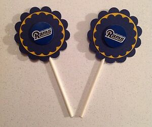 Nfl Los Angeles Rams Cupcake Toppers