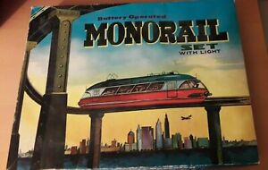 Raro-Vintage-1960s-Conjunto-en-caja-Cosmo-Juguetes-Bateria-monorrail-en-buenas-condiciones-de