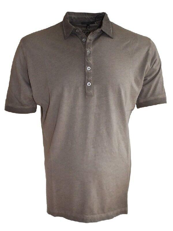 ANGEBOT Codice leichtes Polo Shirt VINTAGE brown Gr. XXL und 4XL Prewash Effekt