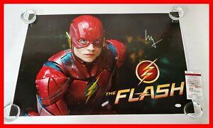 Ezra-Miller-Signed-Justice-League-Flash-Flashpoint-20X30-Poster-JSA-PSA-WITNS
