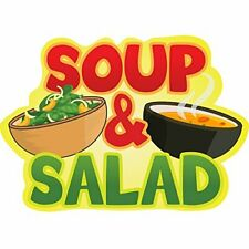 Soup Amp Salad 48 Concession Decal Sign Cart Trailer Stand Sticker Equipment