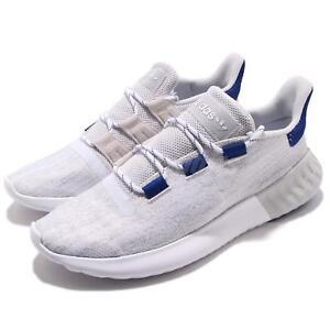 7ae8198dfefa adidas Originals Tubular Dusk Grey White Blue Men Running Shoes ...